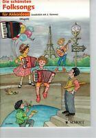 Akkordeon Noten : Die schönsten Folksongs - leicht (mit. 2. Stimme ad. lib.)