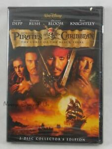 New Disney Pirates Of The Caribbean Curse Of Black Pearl DVD Buena Vista Sealed