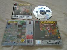 Crash Bandicoot PS1 (COMPLETE) Sony Playstation rare platform platinum