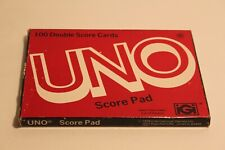 Uno Game Score Pad for Game Play 100 Double Sheets in Original Box