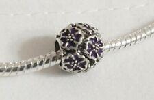 pandora charm distanziatore fiori viola :