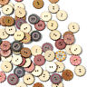 100Pcs/lot Wooden Buttons 2 Holes Flower DIY Sewing Scrapbooking Crafts 20/25mm
