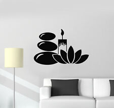 Vinyl Wall Decal Lotus Candle Stones Relax Spa Therapy Massage Stickers (g1020)