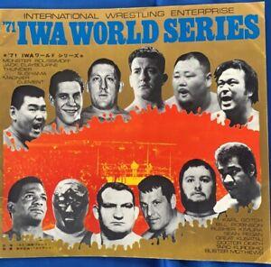 IWE Wrestling Program Japan 1971IWASeries /Andre The Giant Monster Roussimoff