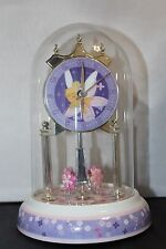 "Disney Tinker Bell Glass Dome 9"" Anniversary Clock--Excellent Condition"