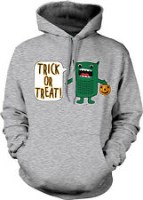 Trick Or Treat Green Monster Halloween Pumpkin Candy Cartoon Hoodie Sweatshirt