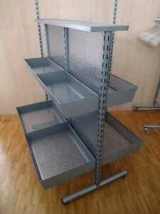 Mittelraumgondel Verkaufsregal modular mit 8 Schütten