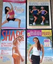 Womens Workout Fitness Abs Butt Thighs Firm Sculpt  Stress Relief  4 DVD Lot NEW
