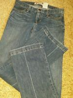 Women's Gap Brand Long & Lean Flare Stretch Blue Jeans Size 2 Long Medium Wash
