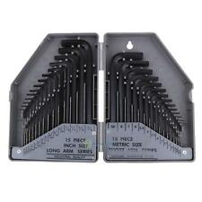 30pcs Metric + Imperial Sae Combination Allen Hex Wrench Key Set Tools With Case