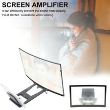 "12"" inch Mobile Phone Screen Magnifier 3D HD Video Amplifier Smartphone Stand UK"