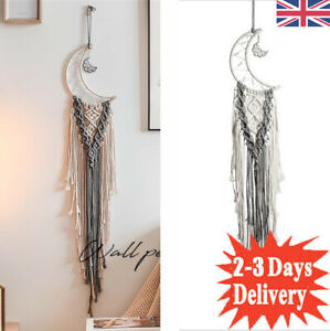 Dream Catcher Handmade Bedroom Wall Hanging Moon Cotton BOHO Tradition DRCOR UK