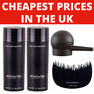 HAIR BUILDING THICKENING FIBRES 27.5g - 8 COLOURS - CHEAPEST UK STOCK