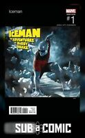 ICEMAN #1 SKAN HIP-HOP VARIANT (MARVEL 2017 1st Print) COMIC