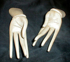 """New listing Hand Sets Bali wood hands jewelry display rack business card holder pair 6"""" L"""