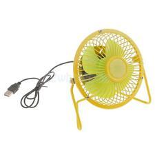 4'' Mini Desk Table Laptop Cooler Cool Fans Desktop Small USB Powered Yellow