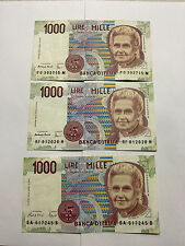 3-1990 Italy 1000 Lire Notes VF+ #5065