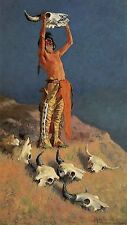 Conjuring Back The Buffalo by Frederic Remington Western Native American   11x19