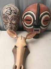 Hand Carved Masks.