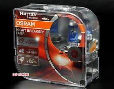 x2 OSRAM NIGHT BREAKER LASER H4 12V Halogen +130% More Light 64193NBL DUO-BOX