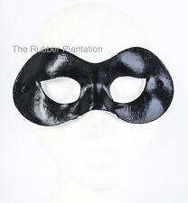 Black Domino mask Halloween superhero eyemask Zorro Harley Quinn Fancy Dress
