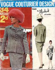 60's VTG VOGUE Couturier Design Dress&Jacket Michael w/Label Pattern 1565 10 UNC