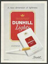 DUNHILL  Lights - Cigarettes - 1995 Print Ad