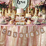 """CANDY BAR"" Letters Hanging Flag Wedding Party Bunting Banner Party Pull Flowers"