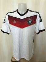 Deutschland team 2014/2015 home Size L Germany Adidas shirt jersey trikot soccer