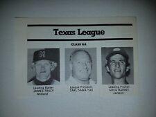 Greg Harris Jackson Mets Jim Tracy Midland Cubs  1980 Sporting News Panel