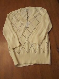 Womens Sport Haley Golf Sweater, NWT, M