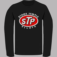 New Stone Temple Pilots STP Logo Rock Band Black Long Sleeve T-Shirt Size S-3XL