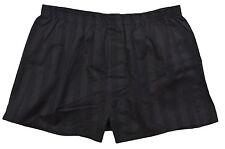 Grigio Perla Men's Black Striped Woven Cotton Boxer S Designer Underwear