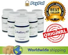 6x ORIGINAL ACAI BERRY 900 WEIGHT LOSS 100 % NATURAL DIET SUPPLEMENT 60 CAPSULES