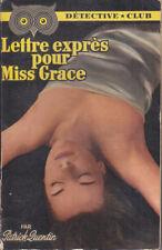C1 Patrick QUENTIN Lettre Expres pour Miss Grace DETECTIVE CLUB 1953 Grant
