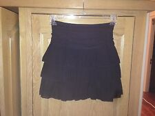 BD Junior Black Layer Tiered Chiffon Above Knee Skirt - Size 1