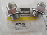 2 NEW PARKER 12-16F4OMXS  MALE CONNECTORS 1216F4OMXS