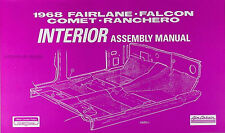 1968 Ford Interior Assembly Manual 68 Torino Falcon Fairlane Ranchero Futura GT