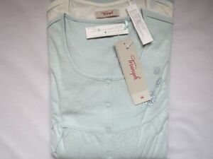 Triumph Nachthemd Doppelpack TIMELESS FLORALS, Gr. 48/ 50, hellblau/ creme, NEU