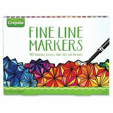 Crayola 40-count Fine Line Markers Set - Assorted Ink - 40 / Set (cyo-587715)