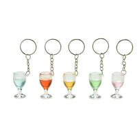 1X Fake Wineglass Key Chain Keyring Creative Gift Decoration Lanyard Keychain Nz