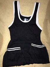 Matman adult small black double knit nylon wrestling singlet #83