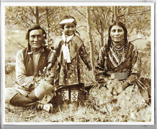 """Photo. Of """"The Beaver Family"""" Blackfoot Tribe By Mary T.S.Schaffer 1907"""