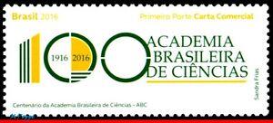3326 BRAZIL 2016 BRAZILIAN ACADEMY OF SCIENCES, CENT., SCIENCE, RHM C-3589 MNH