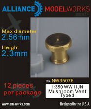 Alliance Model Works 1:350 WWII IJN Mushroom Vent Type 3 Detail Set #NW35075