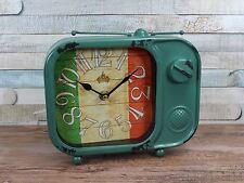 Vintage radio style metal clock