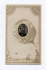 PHOTO ANCIENNE CDV Tintype Ferrotype Vers 1870 Homme Portrait Bijou Montgolfière