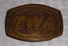 Vintage TWA Trans World Airlines Belt Buckle