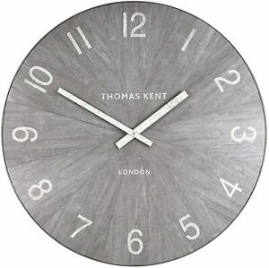 "Thomas Kent London Wharf Limestone Grey Oversized Large Wall Clock 30"""