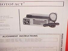 1967 PEARCE-SIMPSON CB RADIO SERVICE SHOP MANUAL MODEL ESCORT II